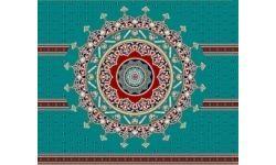 gobek-01-mavi Cami Halısı
